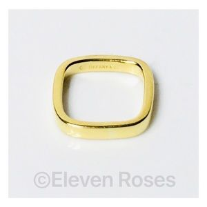 Tiffany & Co 18k Gold Cushion Band Ring